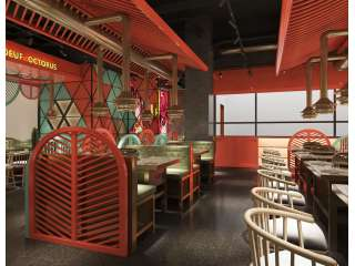 牛牛章水煎肉公元时代店 主题连锁餐厅设计